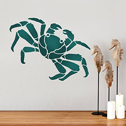 Crab Wall Art Stencil - Reusable Stencils for Walls - DIY Home Decor ...