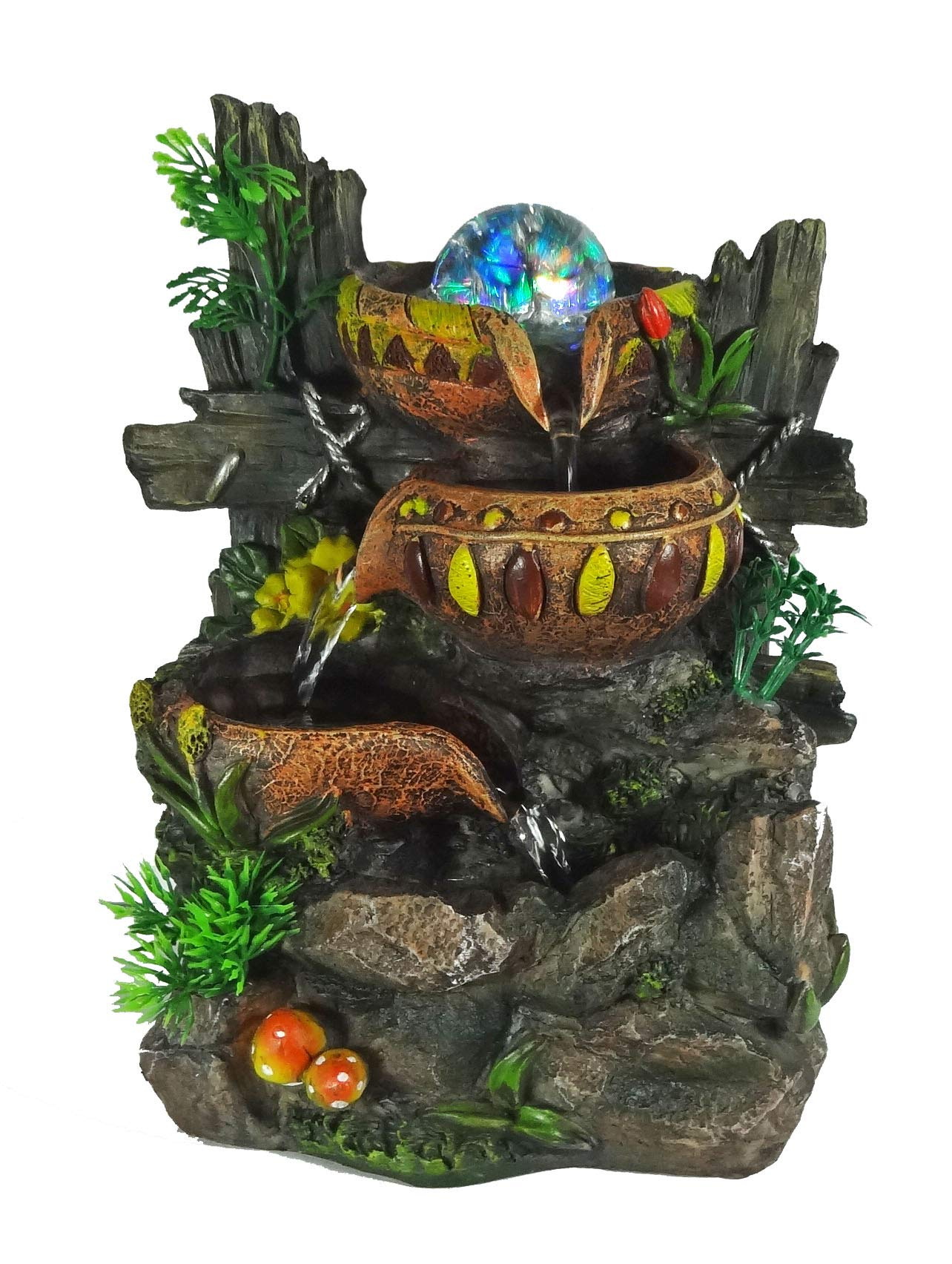 ImagiWonder Indoor Tabletop Fountain Cascading Water Buckets on Rocks by ImagiWonder