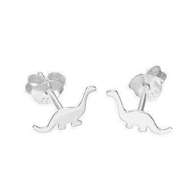 Lizzyoftheflowers. 3 pairs silver tone dinosaur Acrocanthosaurus, Megalosaurus, Silvisaurus stud earrings