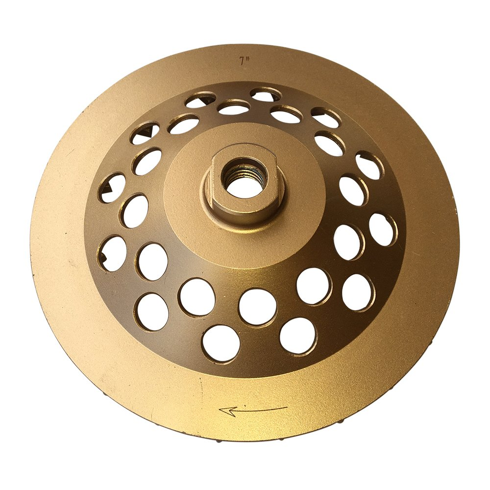 Grinding Wheels for Concrete and Masonry Available from 4 to 7 Inches - 7'' Diameter 24 Turbo Diamond Segments 5/8''-11 Arbor by EDiamondTools