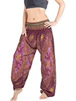 Premium Ladies Baggy Trousers - Peacock Eye Print - Ladies Harem Trousers - Festival Yoga Relaxation