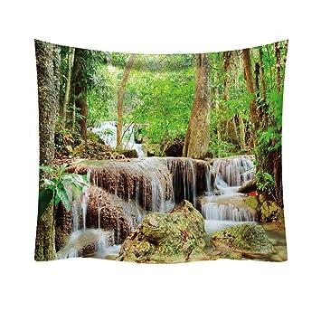 Nature Forest Print - Tapiz para Pared, Toalla de Dormitorio, decoración para el hogar, 93 x 75 cm: Amazon.es: Hogar