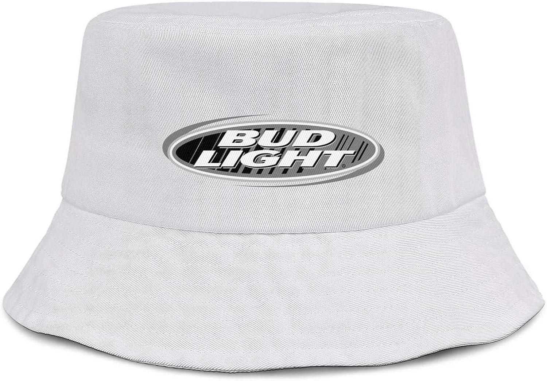 XIANGXIXI0 Women Mens Bud Light Logos Bucket Hat Cool Breathable Sunshade Cap