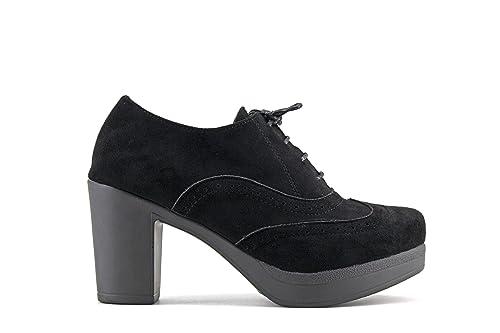 24c904c2262b3 Modelisa - Zapato Blucher Tacón Ancho Mujer  Amazon.es  Zapatos y  complementos