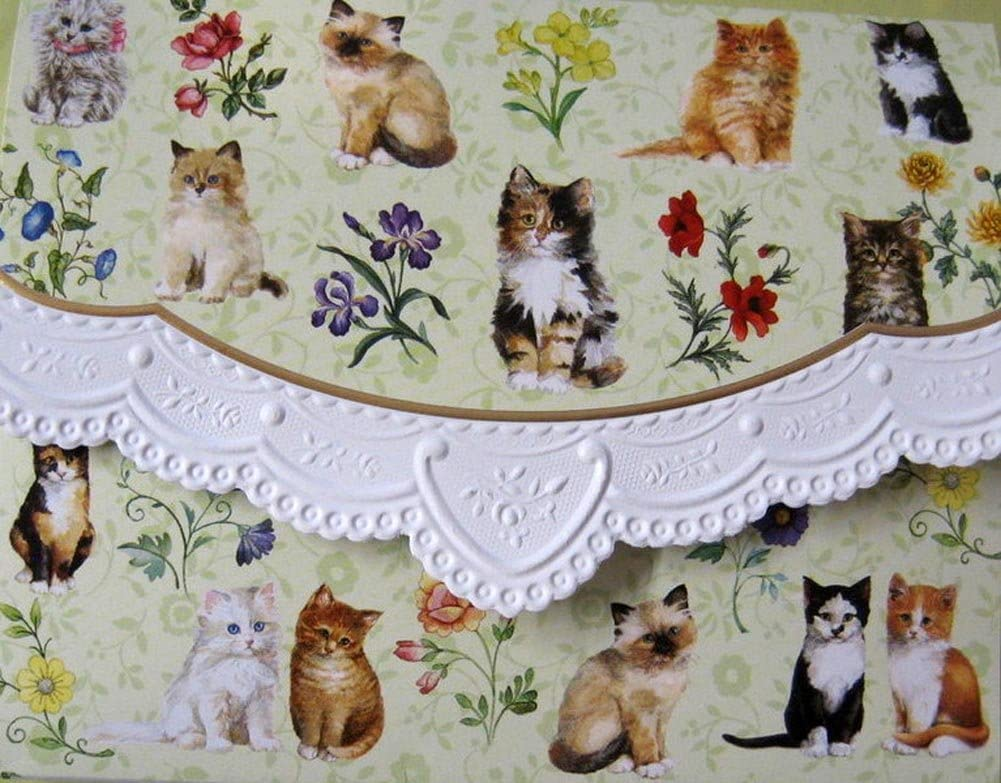 Carol's Rose Garden Kittens Portfolio Blank 10 Card Set