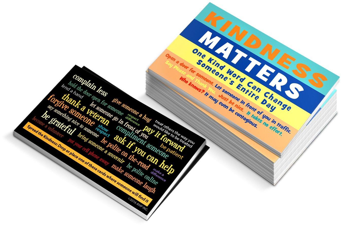 Kindness Matters Cards - Kindness Is Contagious Challenge Card (BOX of 1,000)