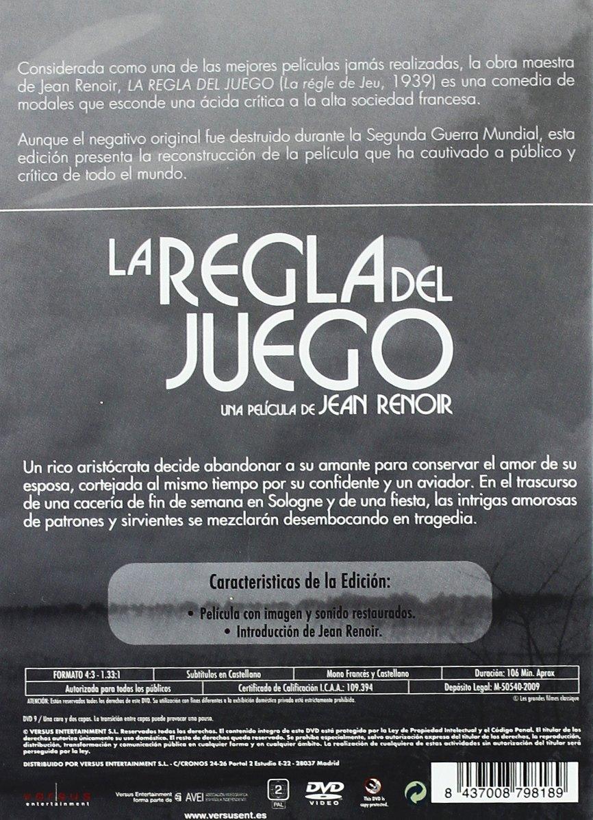 Amazon.com: La Regla Del Juego (Import Movie) (European Format - Zone 2) (2010) Nora Gregor; Paulette Dubost; Mila Pare: Movies & TV