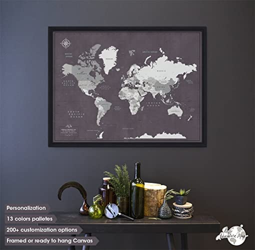 World travel map framed framed world map push pin anniversary gift world travel map framed framed world map push pin anniversary gift visualises travels gumiabroncs Image collections