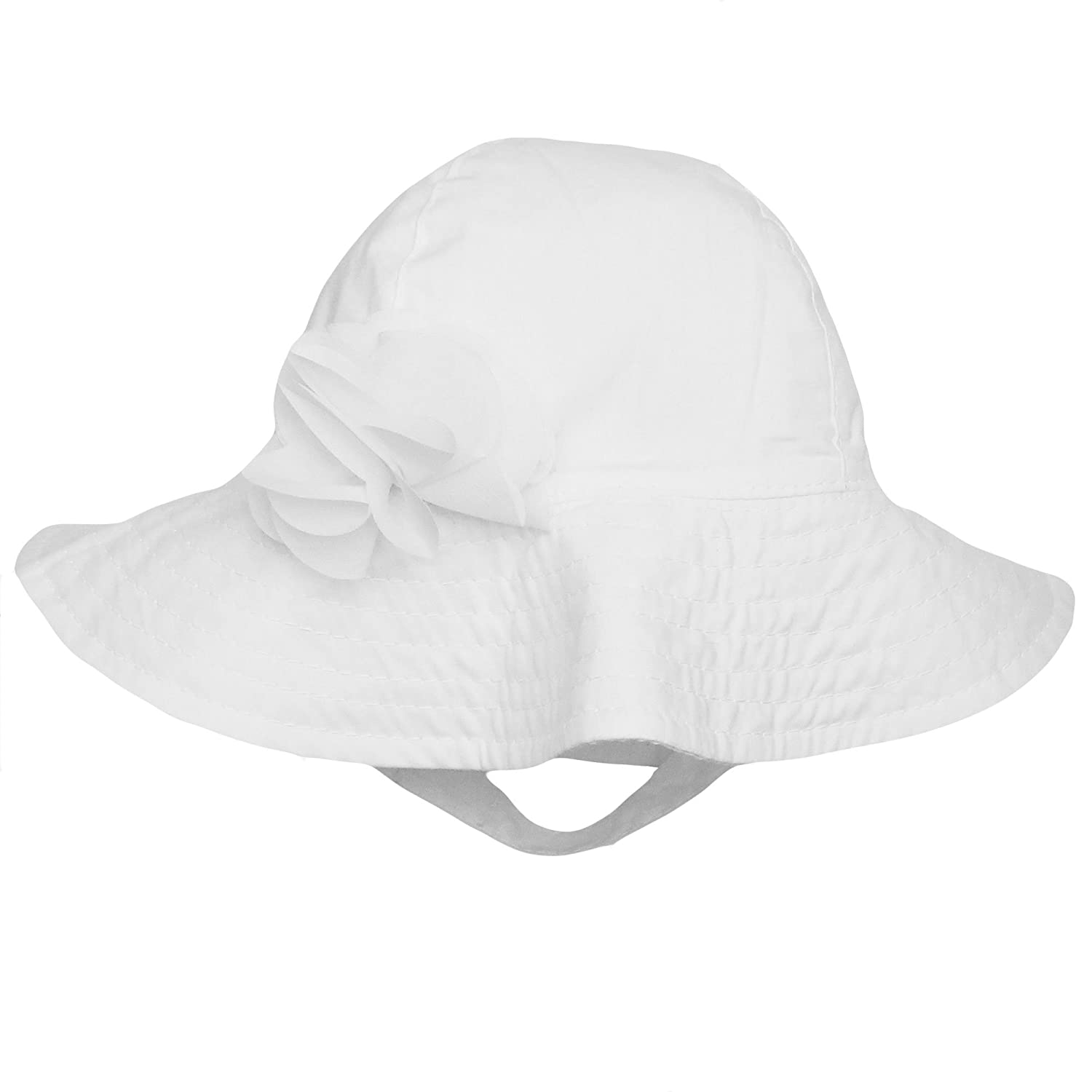 5b0ce9deee1 Amazon.com  Carter s Cotton Sun Hat For Baby Girls Sun Protection Hat Solid  White 0-9 Months  Baby