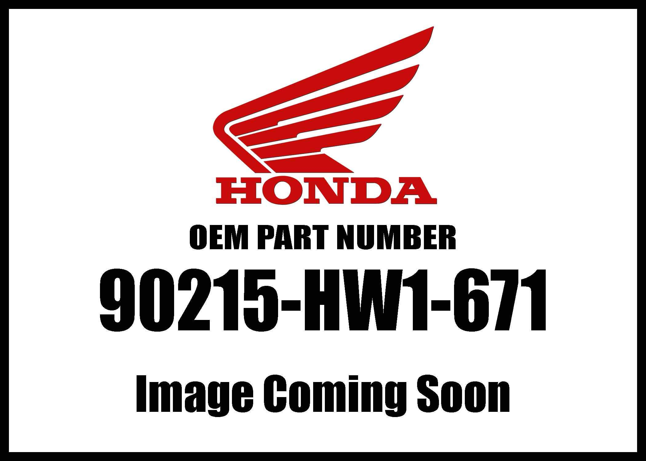 Honda 90215-HW1-671 Bolt Flange (6X16)