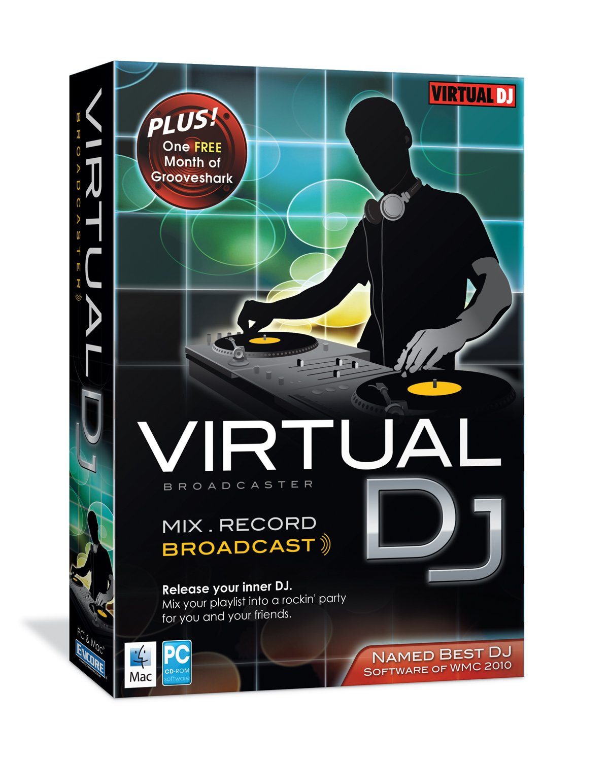 front facing virtual dj broadcaster
