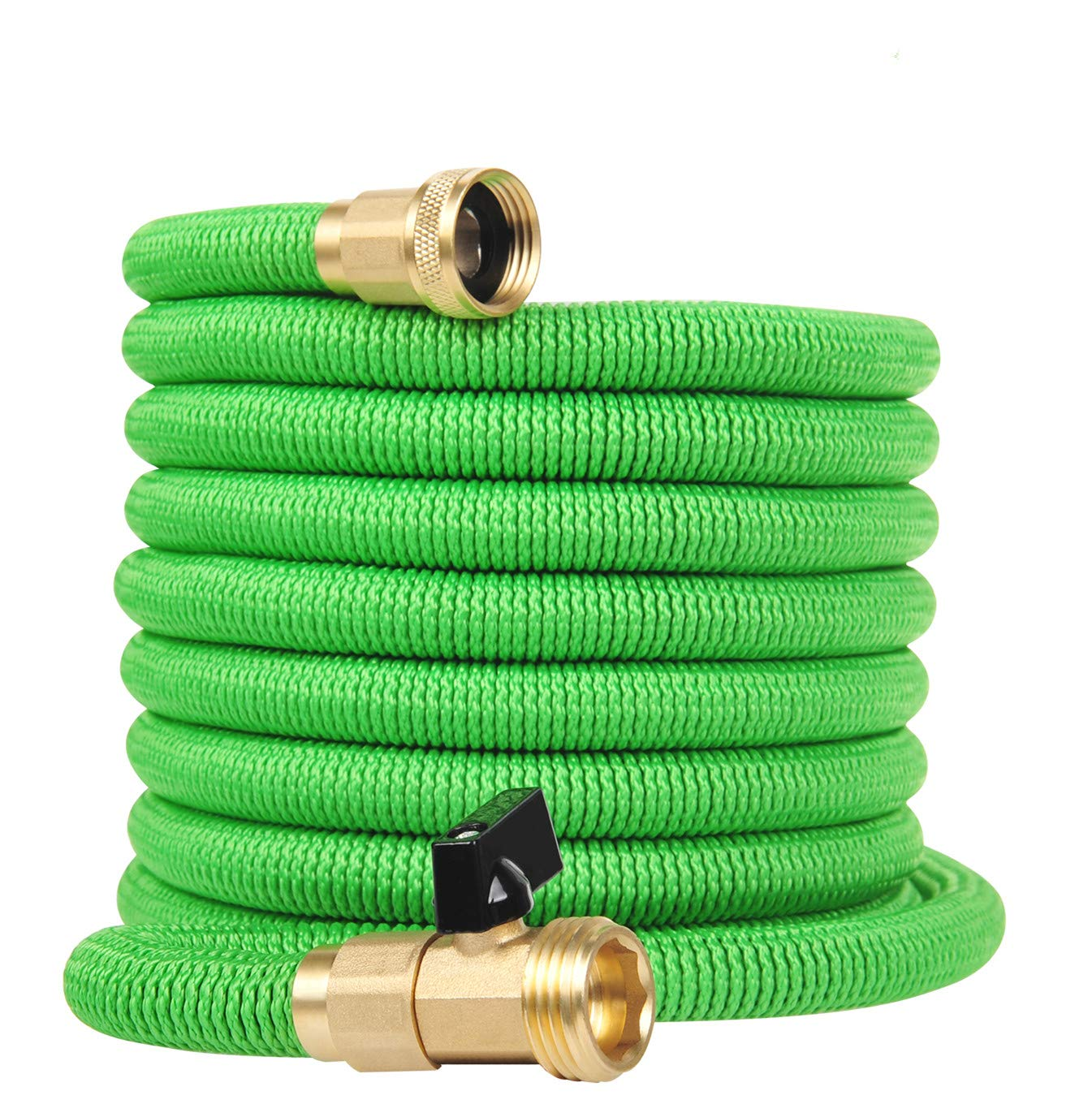 Grelife Garden Hose Expandable Hose 50ft Flexible Water Hose with Strength Polyester and Heavy-Duty Brass Fitting