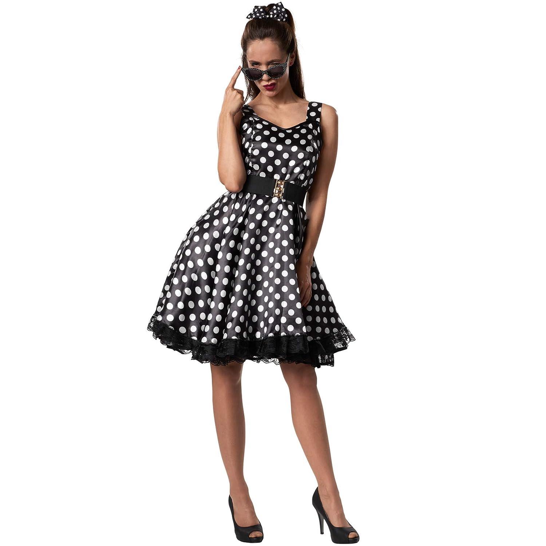 dressforfun 900379 - Disfraz de Mujer Rockabily Lady, Vestido ...