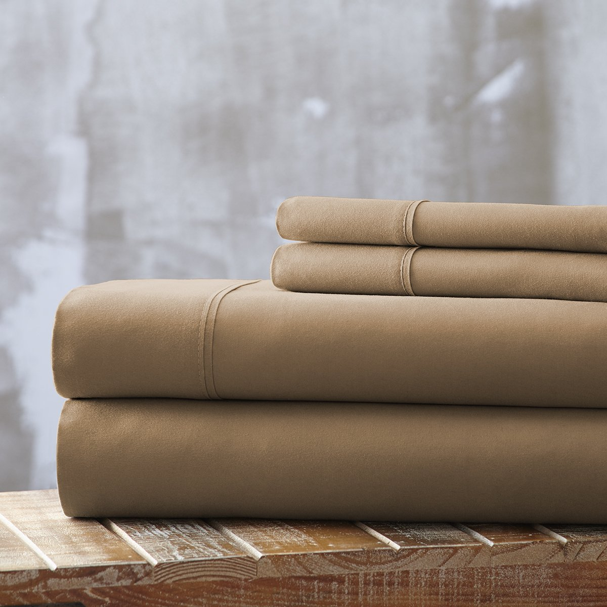 Spirit Linen, Inc Hotel 5th Ave EE-FULL-TAUPE-4PC Full Taupe Everyday Essentials 1800 Series 4Pc Sheet Set