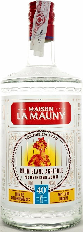 Ron La Mauny Rhum Blanco Agricole 40º 100 cl: Amazon.es ...