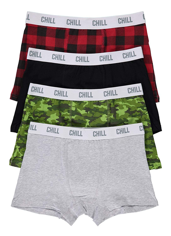 Boys Fun Underwear | Boxer Briefs 4-Pack Size M (10/12) Chill