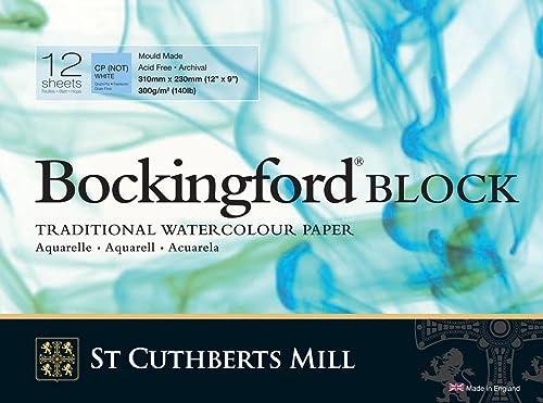 "Bockingford Watercolour Block 140lb/300gms 9x12""/228x305mm Cold Press"
