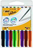 Bic Velleda 1741- Rotuladores multicolor para pizarra blanca, de borrado fácil, trazo medio, 8 unidades
