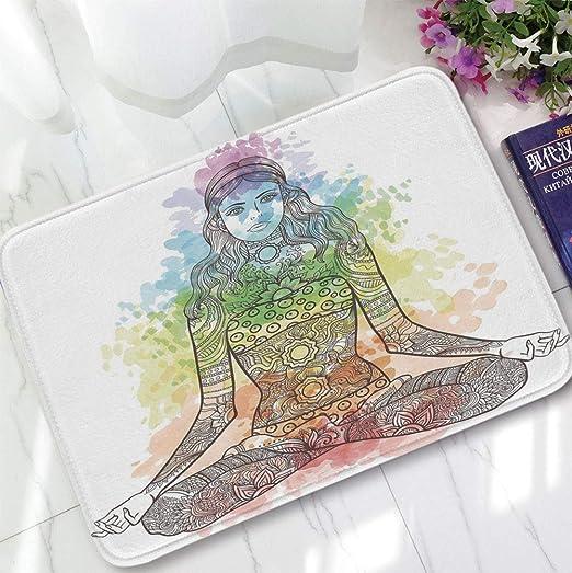 YOLIYANA - Alfombra de Pelo Corto para el Suelo, Yoga, para ...