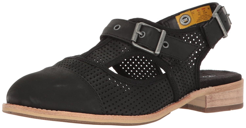 Caterpillar Women's Martine Sling Back Perforated Shoe Flat Sandal B01HNURIWW 7.5 B(M) US|Black