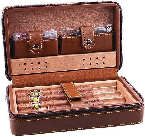 Humidor De Cigarros Estuche De Puros De Cuero Caja De Puros De Cigarros Estuche De Viaje