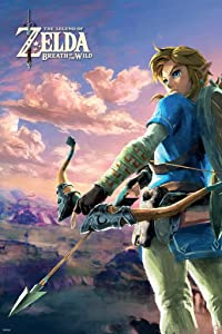 Pyramid America Zelda Breath of The Wild Hyrule Scene Video Game Gaming Cool Wall Decor Art Print Poster 24x36