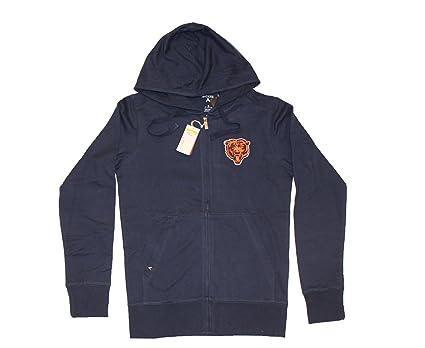 d48afb7e0 Amazon.com   Antigua Chicago Bears NFL Men s Full Zip Navy Hoodie ...