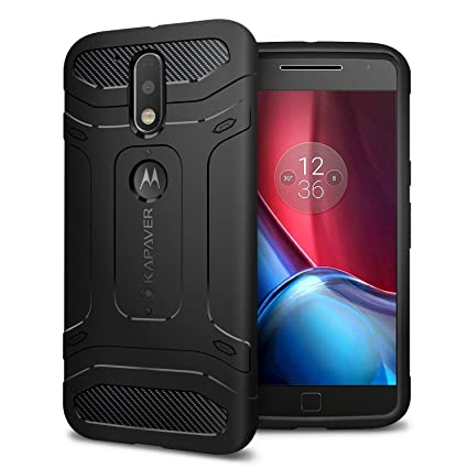 cheap for discount 43555 29ffe Kapaver Rugged Solid Black Shock Proof Slim Armor Case for Moto G4 / G4 Plus