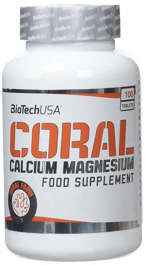 Biotech Coral Calcium + Magnesium, Vitaminas y Minerales - 100 Tabletas