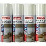Kit De 4 Beaphar Protecto Fogger Insectos nebulizador Bomba de pulgas cada 200ml