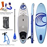 Xspec Inflatable Stand Up Paddle Board w/Non-Slip Wide Top Deck 10