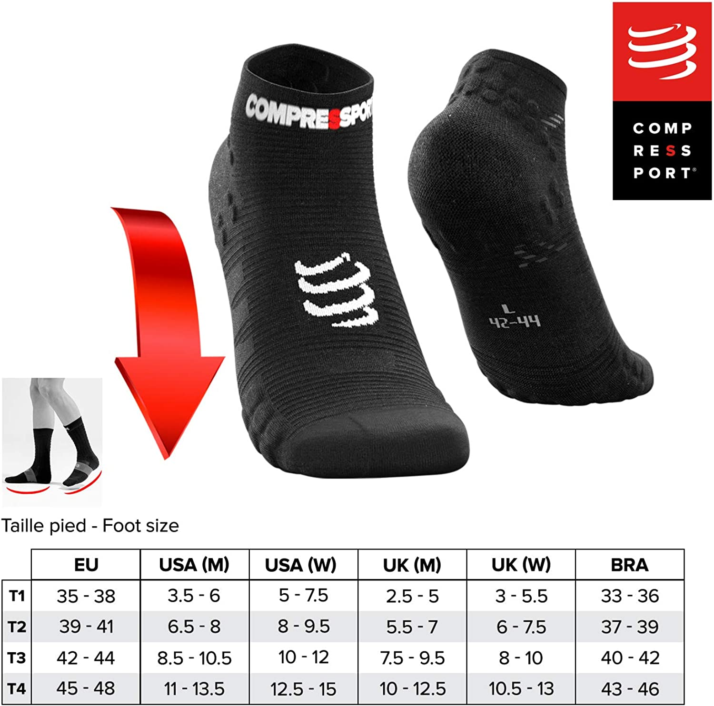 COMPRESSPORT Herren V3 Sock Low Flou Laufsocke Tief