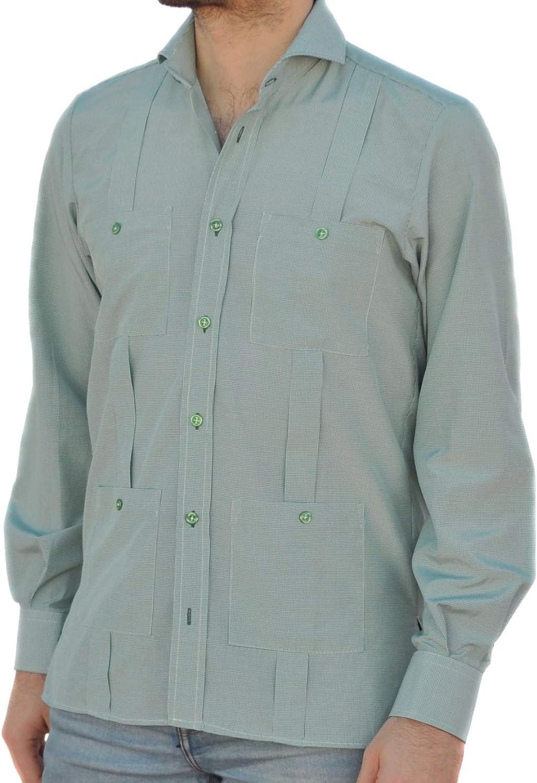 Camisa Guayabera Caballero Cuadro Vichy Verde (XL): Amazon.es: Ropa y accesorios