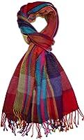 LORENZO CANA - Luxus Schal Schaltuch Wolle Fischgrat bunt mehrfarbig 70 x 190 cm Paisley Wollschal Wolltuch Pashmina Merinowolle Lammwolle 7839711