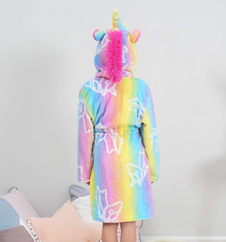 Unicorn Gifts for Girls Doctor Unicorn Soft Unicorn Hooded Bathrobe Sleepwear