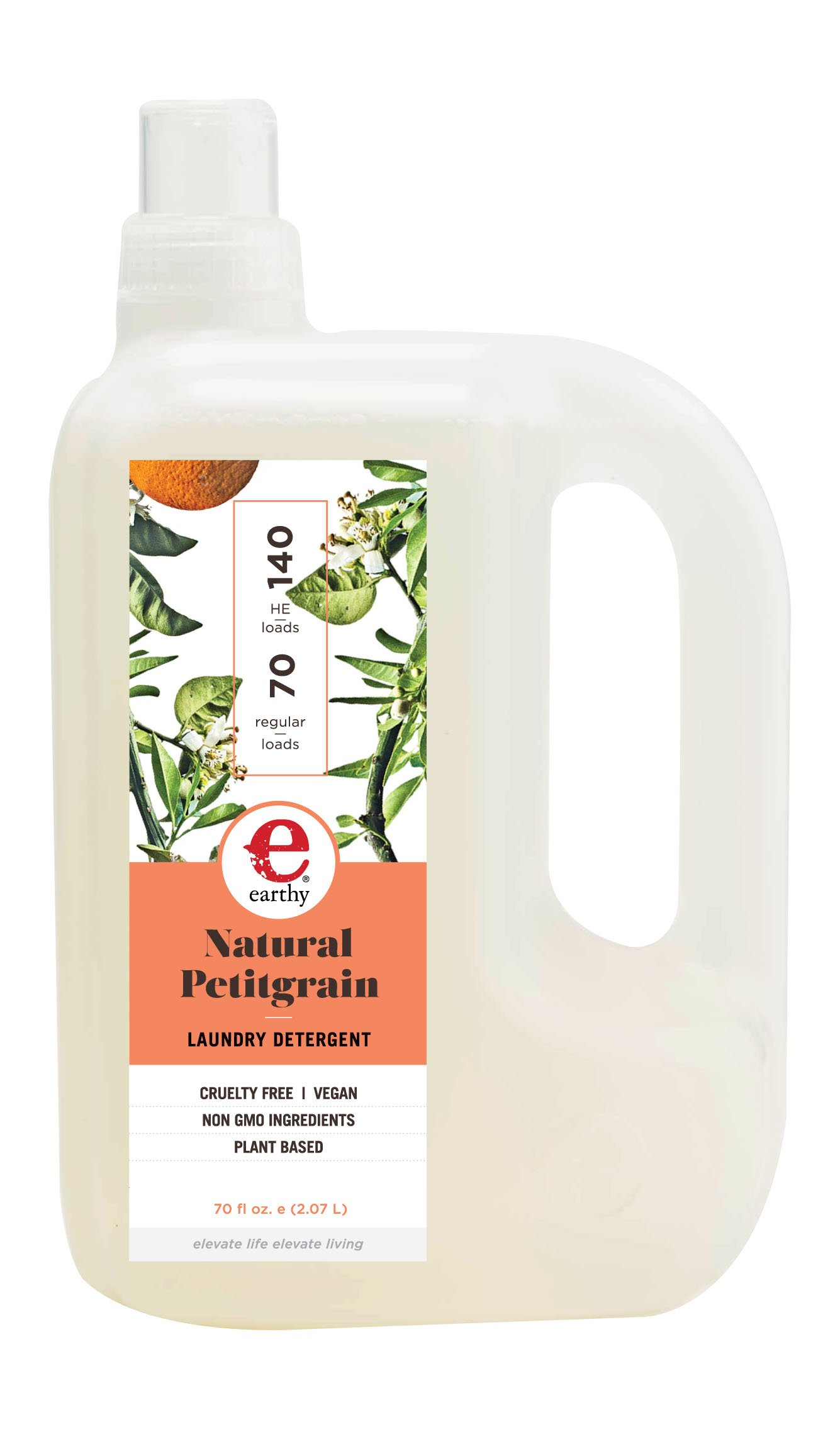 Earthy Natural Laundry Detergent, Petitgrain, 70 Ounce