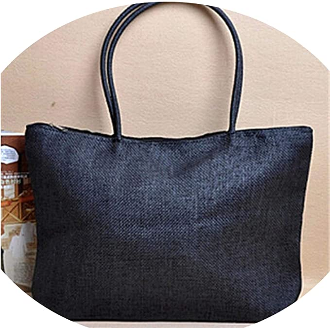 Amazon.com: Summer Straw Beach Tote Shopper Women Messenger Bags Ladies Handbags Kabelky,black,45cm x 32cm: Clothing