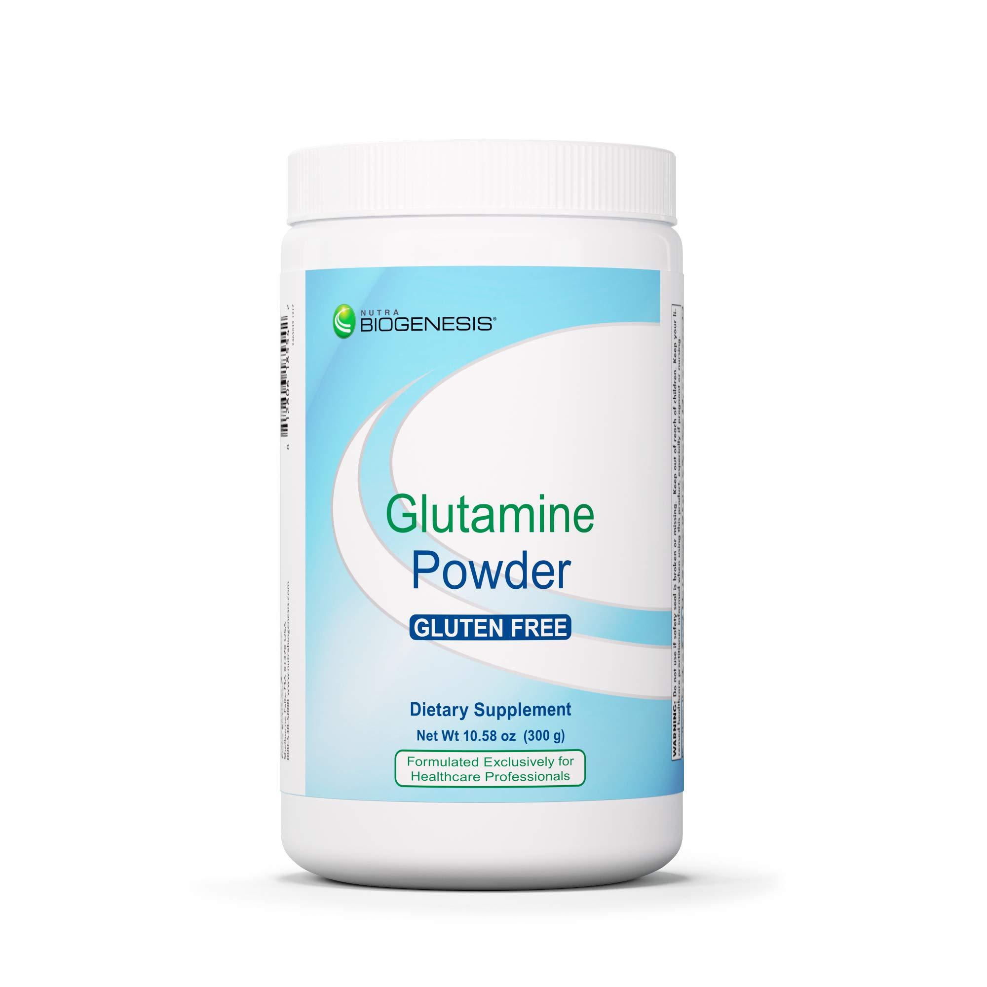 Nutra BioGenesis Glutamine Powder - L-Glutamine for Gastrointestinal Health, Workout Support & Amino Acid Supplementation - Gluten Free - 300 g