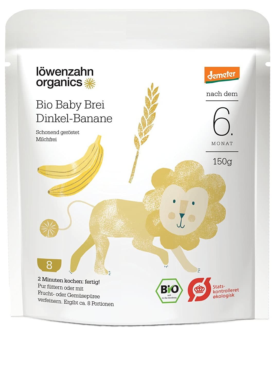 Löwenzahn Organics Demeter Baby Brei Dinkel-Banane 6+ Monate Löwenzahn Organics GmbH