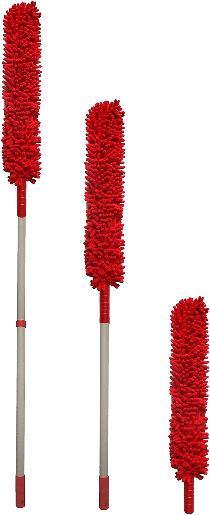 Pour canap/é Plumeau /à long manche amovible pour retirer la poussi/ère meubles T/ête de brosse pliable avec housse en tissu lit m/énage