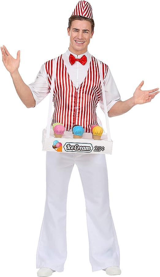 WIDMANN Srl disfraz de helados hombre y adultos, Rojo, wdm68594 ...