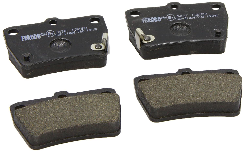 Ferodo FDB1531 Brake Pad Set, disc brake - (set of 4) Federal Mogul