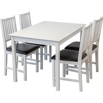 Esszimmertisch Und Stühle tischgruppe lucca weiss tisch 80x120cm 4 x stühle