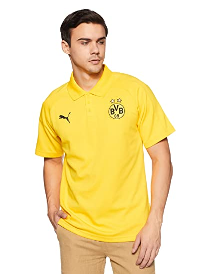 dd663ca6f80 Puma Men's BVB Casual Polo Shirt without Sponsor Logo - gray or black:  Color: