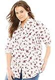 Women's Plus Size Pintucked Corduroy Button Down Shirt