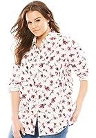 Women's Plus Size Shirt In Soft Cotton Pinwale Corduroy With Pintucks, Long