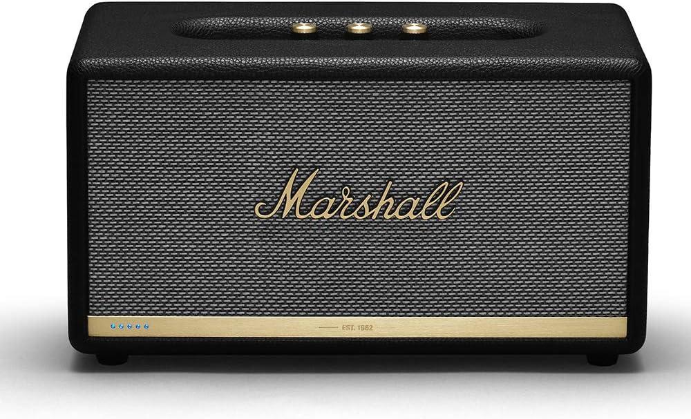 Marshall Stanmore II Wireless Wi-Fi Alexa Voice Smart Speaker - Black (Renewed)
