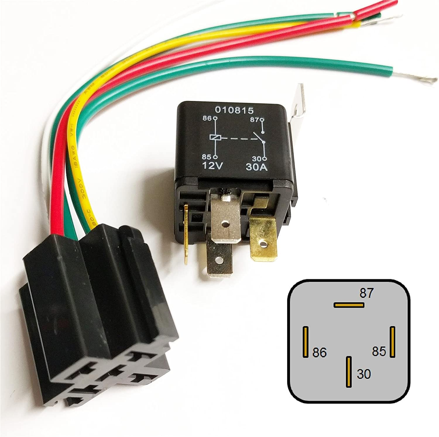 Other Quality 30Amp 12V Heavy Duty 4 Pin Relay Automotive Car Bike Boat Protection