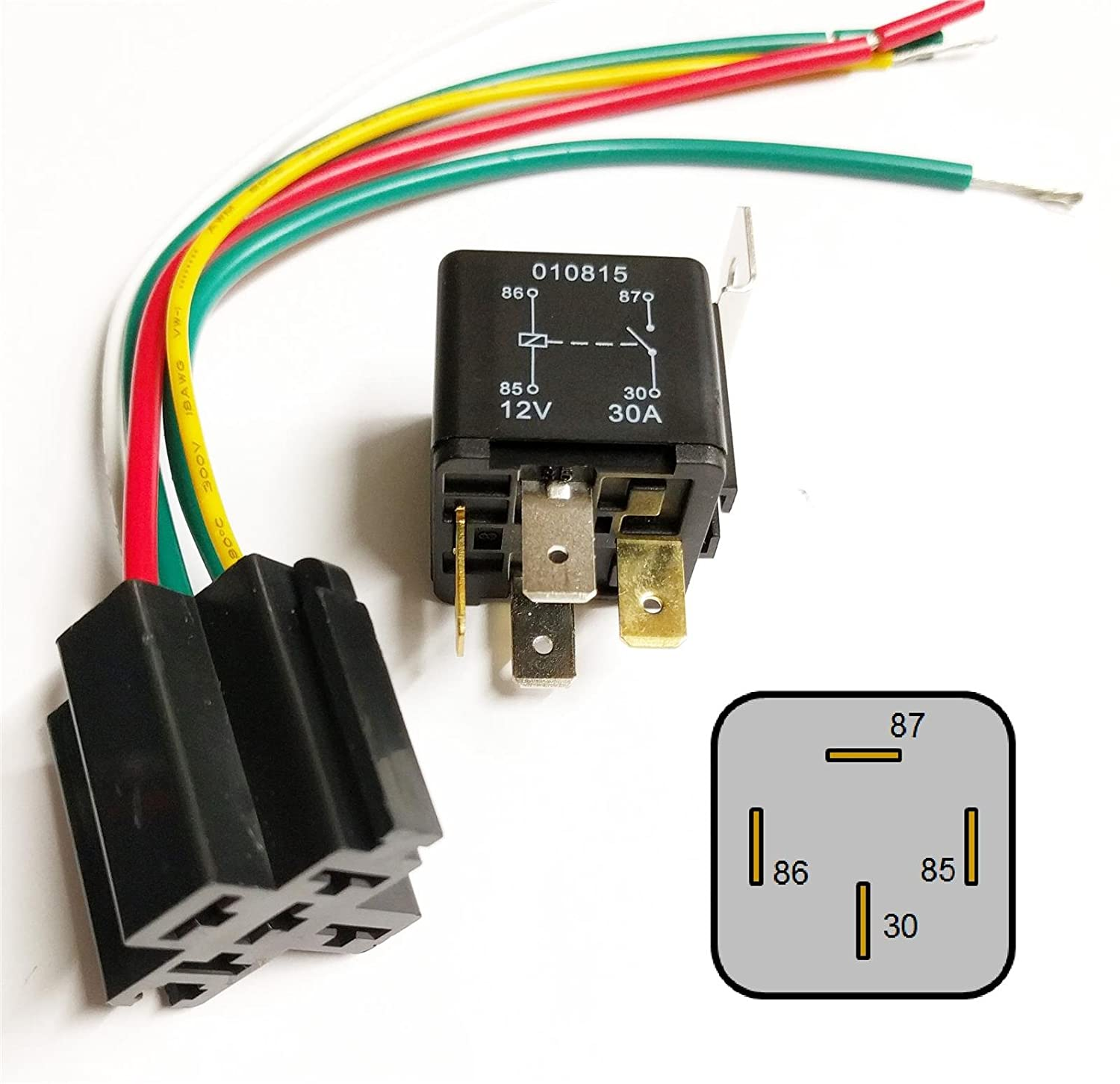 Amazon.com: 4 Pin 12V 30A Relay with Prewired Base for ... on
