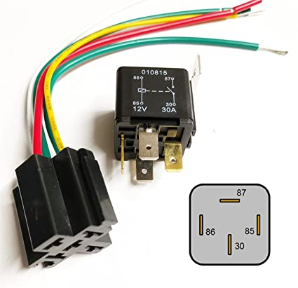 Amazon.com: 30Amp 12V Heavy Duty 4 Pin Changeover Relay & Prewired on 4 pole switch wiring, 5 prong relay wiring, 4 prong relay harness, 4 prong horn relay, 4 prong starter relay,